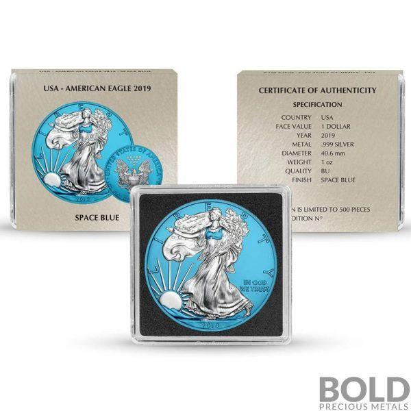 2019 Space Blue American Silver Eagle 1 Oz Bold Precious Metals In 2020 American Silver Eagle Silver Eagles Precious Metals