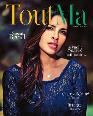 Gyselle Soares avec une création MAGNOLIA en couverture du ToutMa !