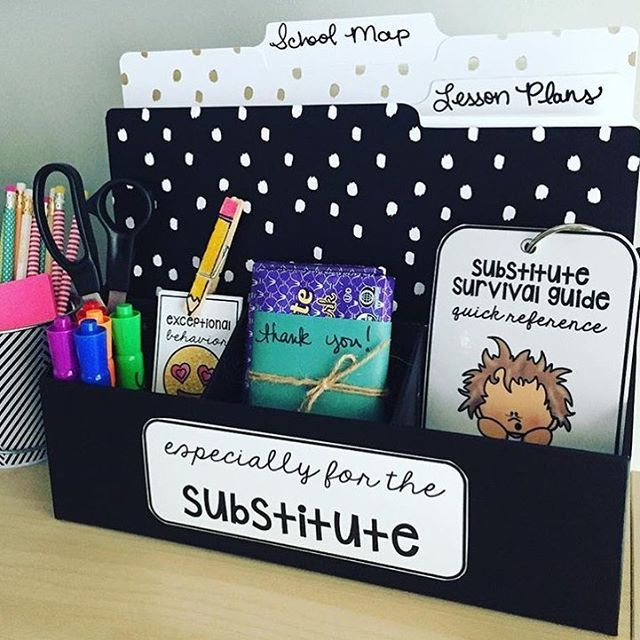 "@mrshenryinfirst made this ""sub station"" for her substitute teacher! This is definitely going to make someone's day. #targetteachers"