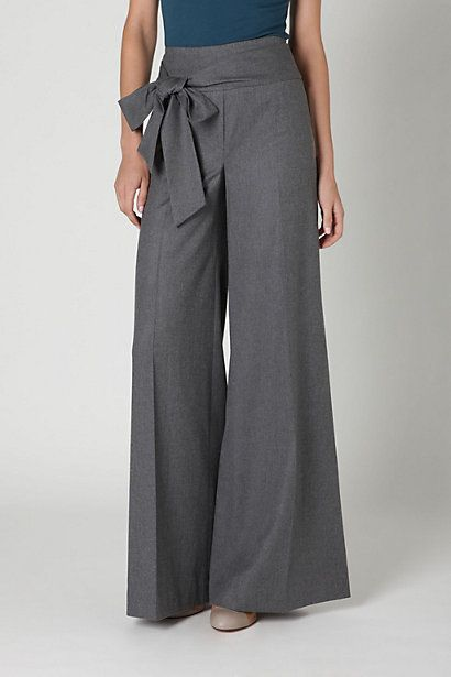 Since my waist is returning these pants would be so fabulous.  Love the tie on the side!