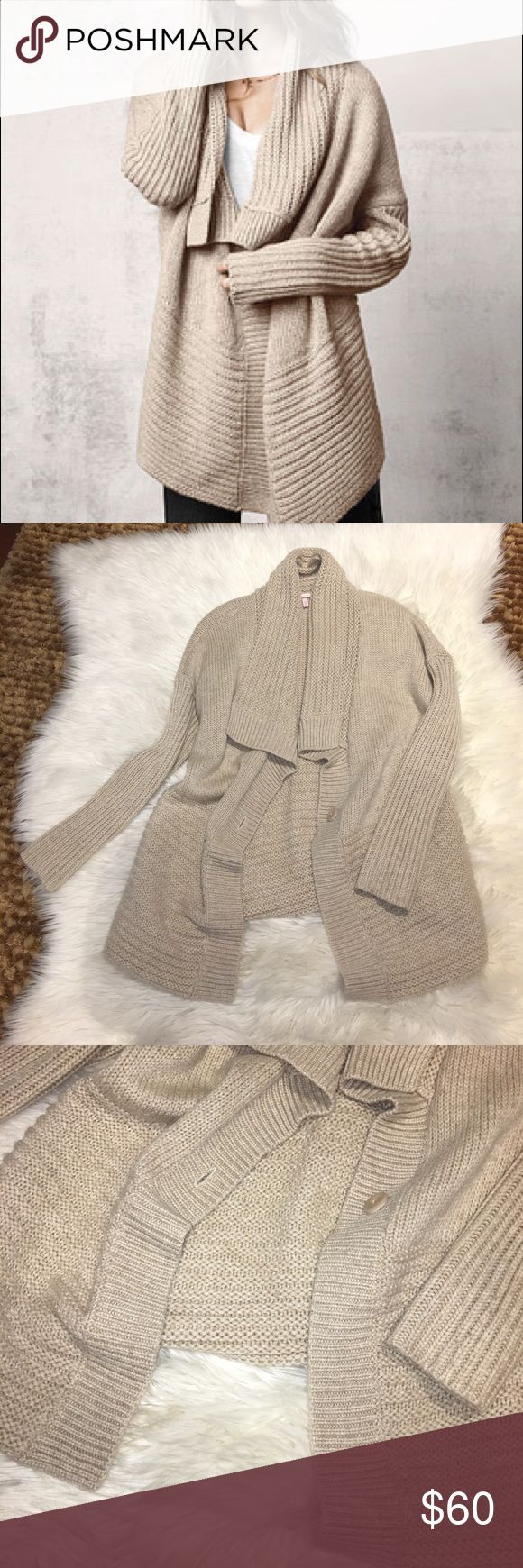 NEW Victoria's Secret Tan Cardigan size Medium ‼️New Never Worn  ‼️Size Medium  ‼️Comfy feel  ‼️Warm feel  ‼️Cute Style  ❌No Trades ✅Offers Victoria's Secret Sweaters Cardigans