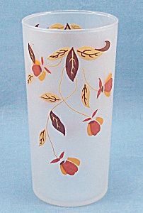 Libby-Jewel Tea-Autumn Leaf- Frosted Glass Tumbler. Click the image for more information.
