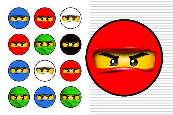 Ninjago face circles These little faces are just so darn cute!