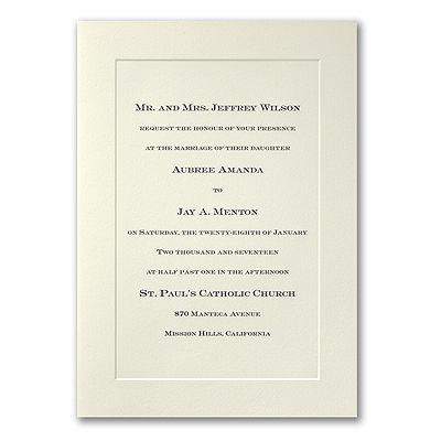 30 best ivory wedding invitations images on pinterest ivory ecru panel folder engraved invitation stopboris Choice Image