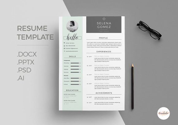 Elegant Resume Template by Emaholic Templates on @creativemarket