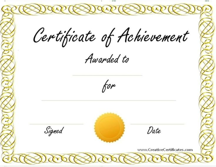 """Some people like to put certificates of their """"achievements"""" around the house. Here's a template for you."""