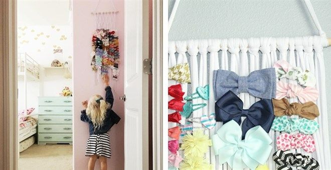 Our Hair Bow Hanger is perfect for every bow lover out there. It is designed to hold over 100 clips easily. This bow organizer makes it simple and easy to store all of your little girl clips