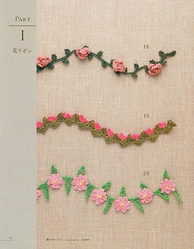 guia de flores en crochet