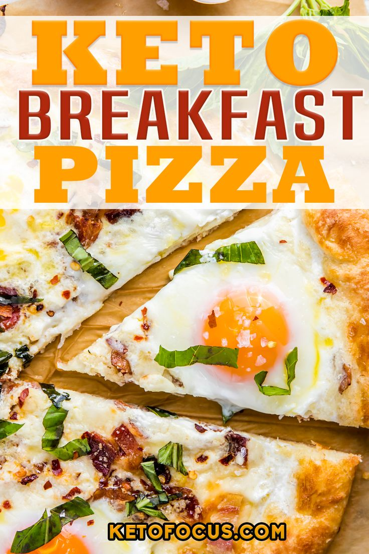 If you love pizza for breakfast, you'll love this keto breakfast pizza with fresh crumbled bacon, basil and a creamy gar…