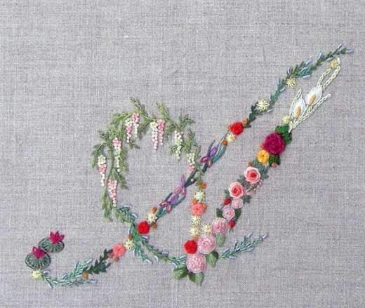 Mille fiori alphabet - A – French Needlework Kits, Cross Stitch, Embroidery, Sophie Digard – The French Needle