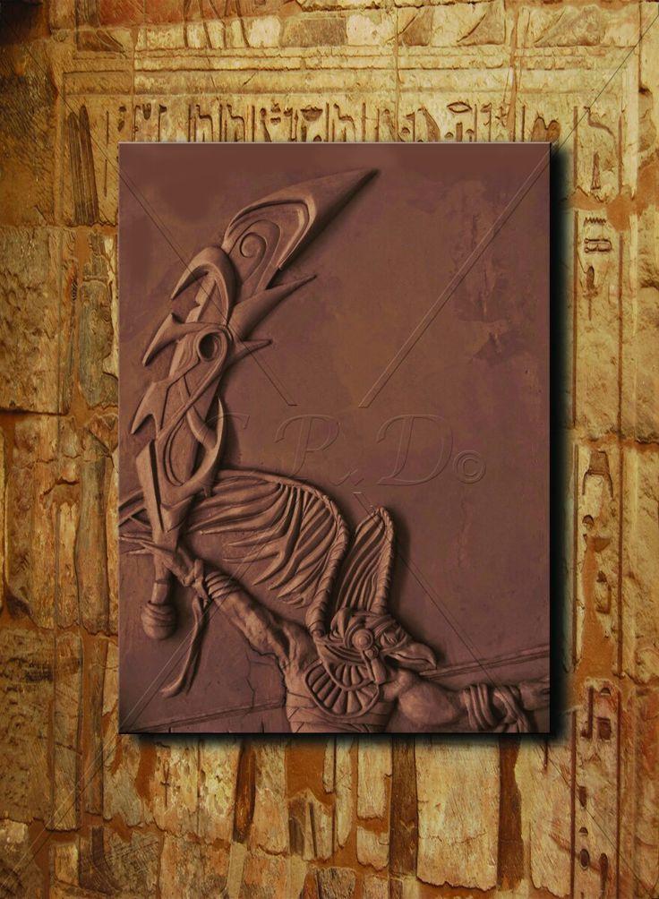 Osiris 1 '' 240×120 cm   Teknik: Rölyef / Akrilik Boya ve Bronz Patine - Technique: Relief / Acrylic Paint and Bronze Patina ''