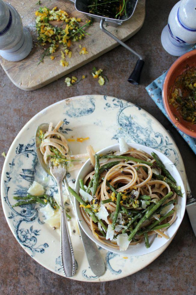 Linguine con gli asparagi selvatici
