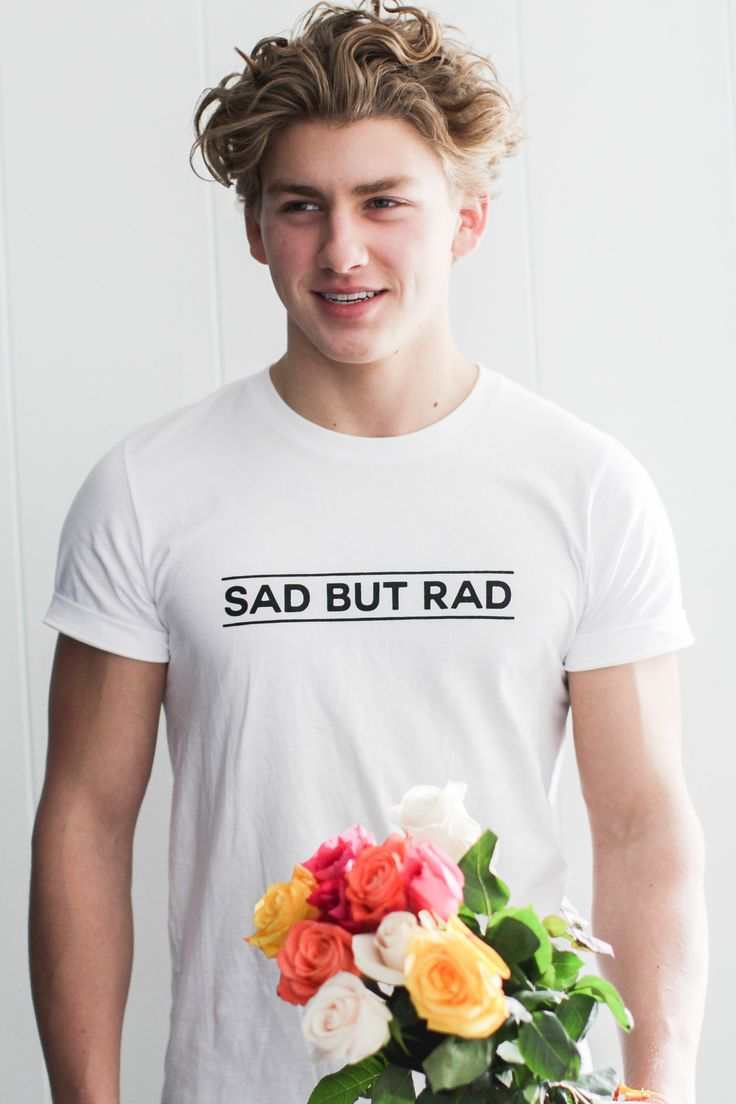Depression affects 1 in 6 adults. (Learn more here) Low moods are even more common. With or without a diagnosis, we all feel sad at some point or another. But hey, that's okay. This shirt was designed as a simple, minimalistic reminder that despite the bad days, you're still really awesome. #sadbutrad