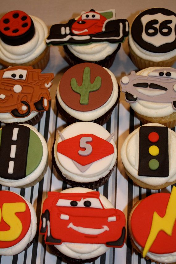 Fondant CARS and FRIENDS RACE Set    Cupcake and by topmycupcake, $37.42