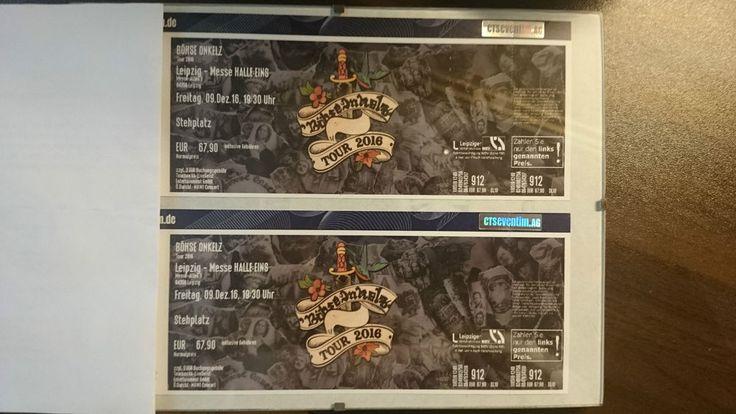 2 Böhse Onkelz Tickets Leipzig Messehalle 09.12.2016