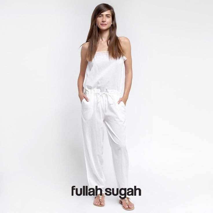 Summer Sales @ Fullah Sugah!  Ολόσωμη φόρμα με δαντέλα βολάν | Από €34.90 τώρα €14.90 Κωδικός e-shop: 1427100410 Shop now at: http://bit.ly/1vfym42 #sales #trends #style #fullah_sugah