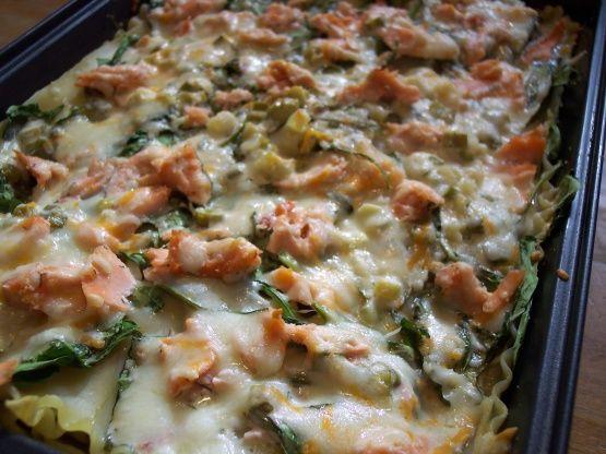 Dill-Licious Salmon And Spinach Lasagna: Recipe - Food.com: Food.com