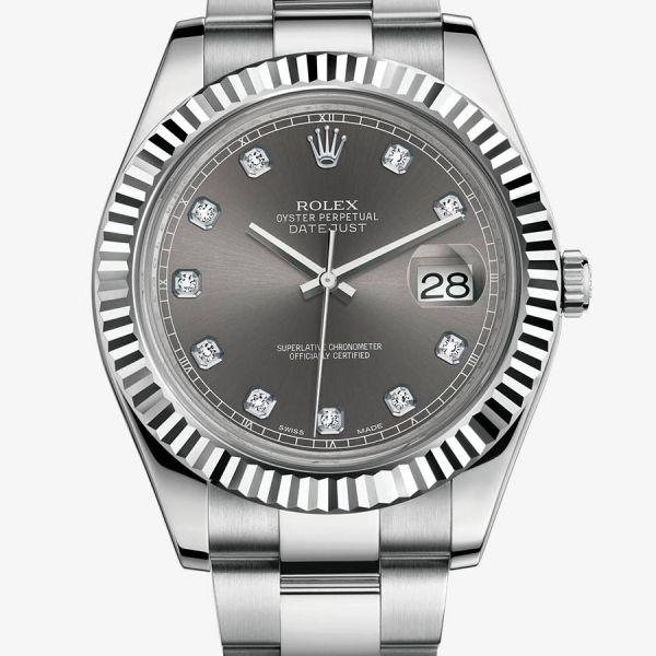 La Cote des Montres : Prix du neuf et tarif de la montre Rolex - Oyster Perpetual - Datejust II - Cadran serti de 10 diamants - 116334-0009