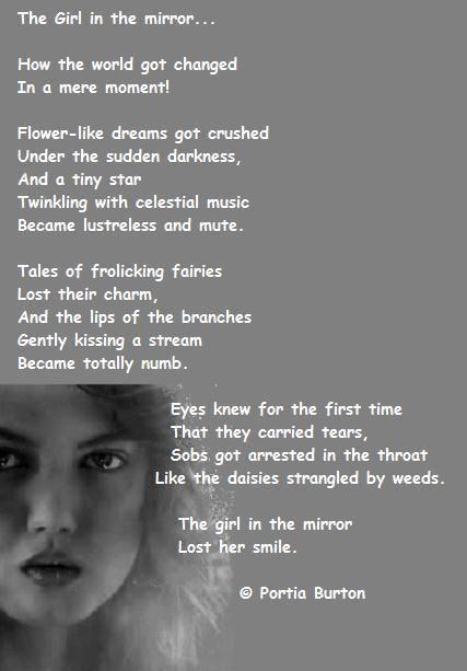 Girl in the mirror - a poem by me © Portia Burton