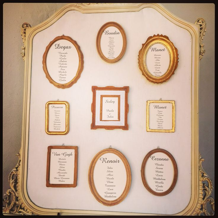Tableau Matrimonio Tema Quadri : Un tableau de mariage a tema pittori impressionisti