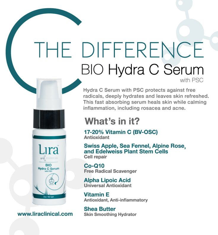 www.pureemeraldsalon.com #Lira BIO Hydra C Serum - Hydrate skin with this light and fast absorbing Vitamin C Serum by Lira Clinical. Complete with plant stem cells, gold, silver and of course, powerful vitamin C!