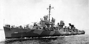USS Radford (DD-446) Fletcher class destroyer.