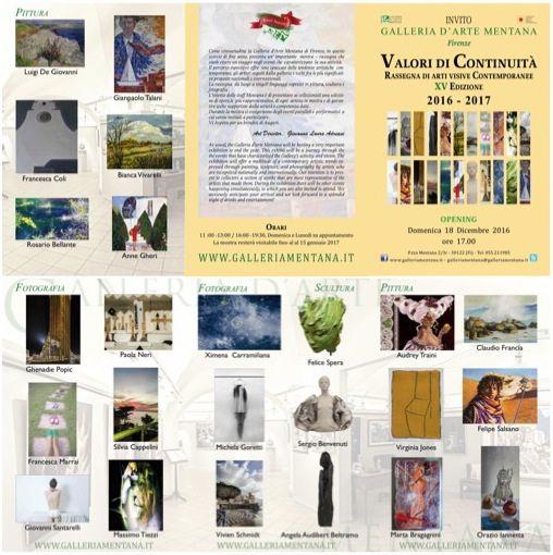 VALORI DI CONTINUITÁ - Rassegna di arti Visive Contemporanee - XV edizione 2016/2017