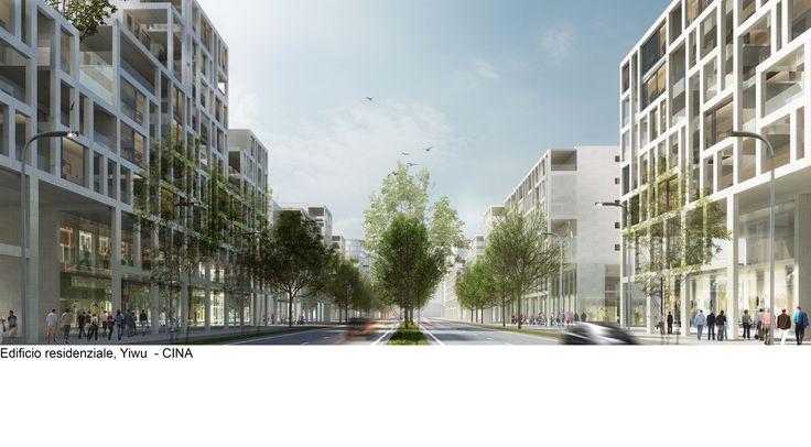 Edifici residenziali sostenibili a Yiwu, China (ReCS Architects: Pier Maria Giordani, Chen Zhen, Samuele Camolese, Mario Scaffardi ▪ 2016)