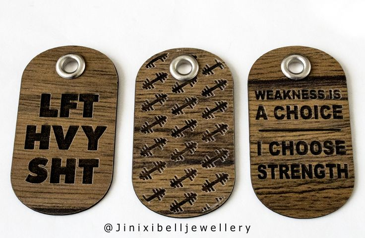 Wooden Dog tags for Him  3 different designs to choose form.  #Jinxibell