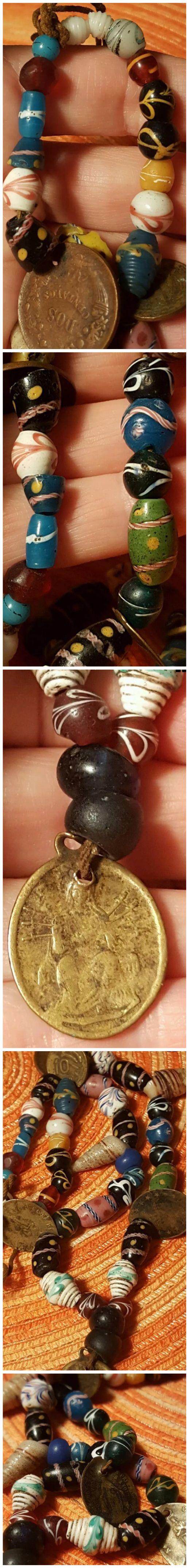 Antique Venetian trade beads from Peru.