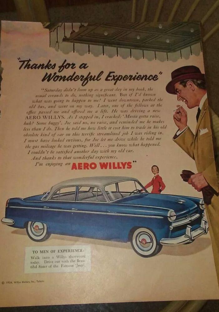 1954 Aero Willys Vintage ad Life Magazine #1956195819591961196219631964196519661967