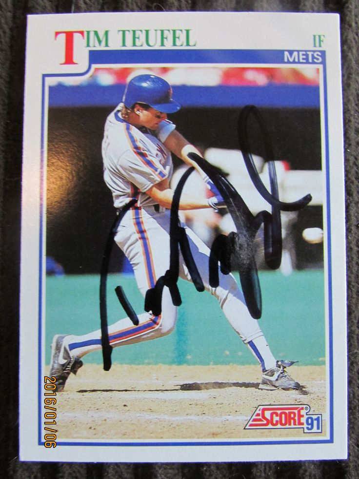 1991 Score 427 Tim Teufel (TTM) New york mets, Mets