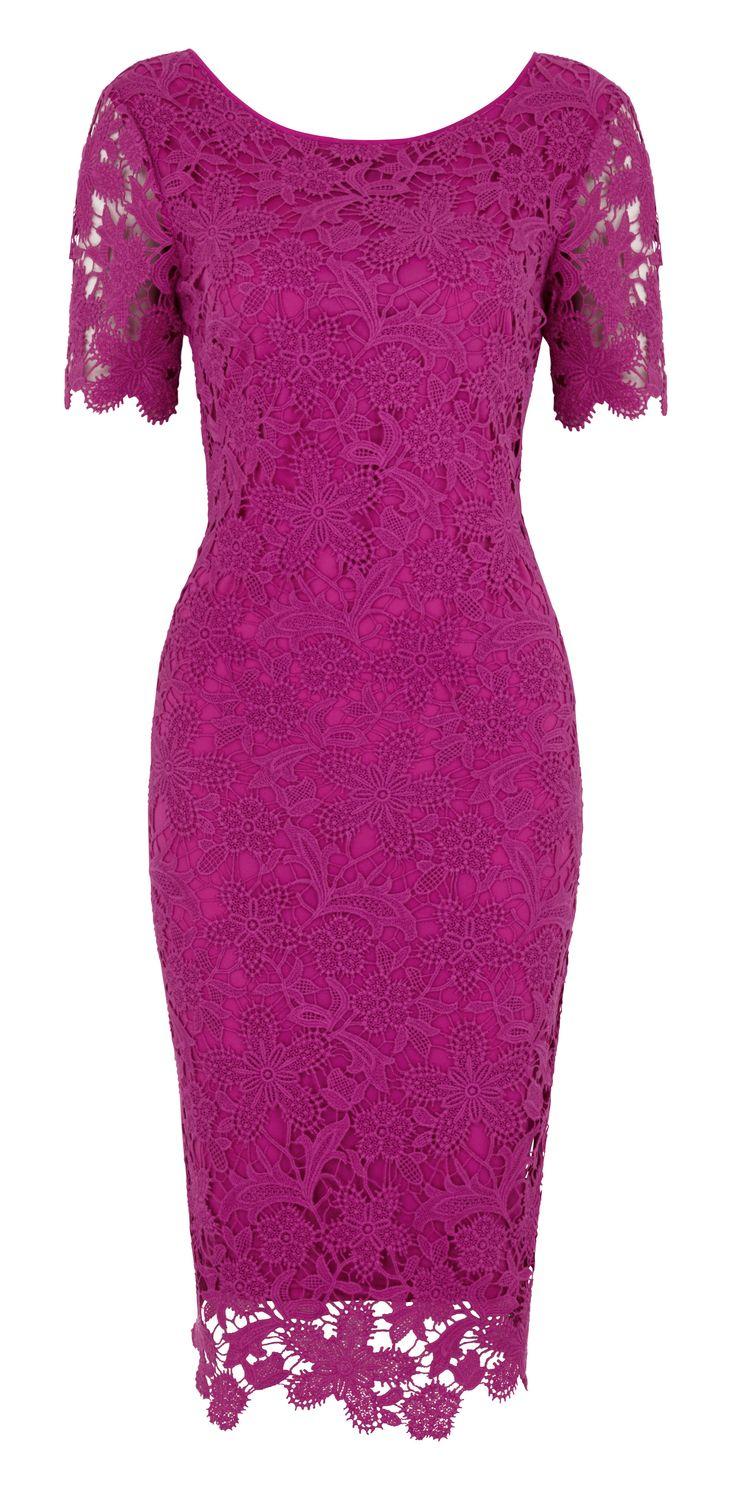 Twiggy pink crochet dress, £85 www.marksandspencer.com