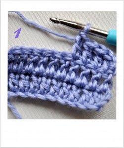 Słupek naszydełku krok po kroku. Double crochet tutorial.