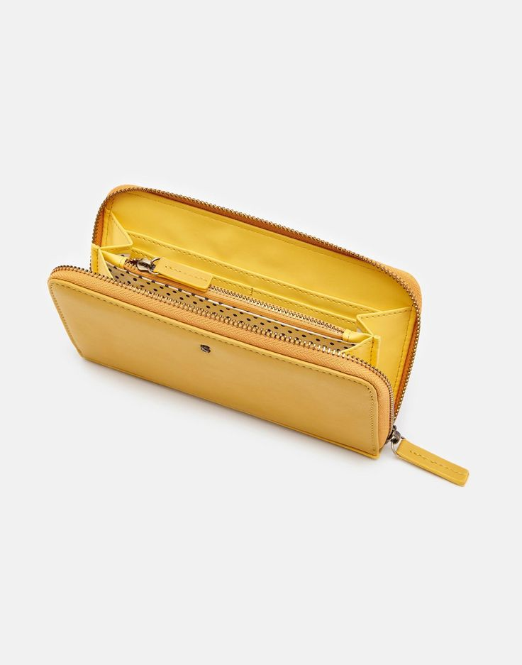 Fairford bright Gold PU Purse , Size One Size | Joules UK