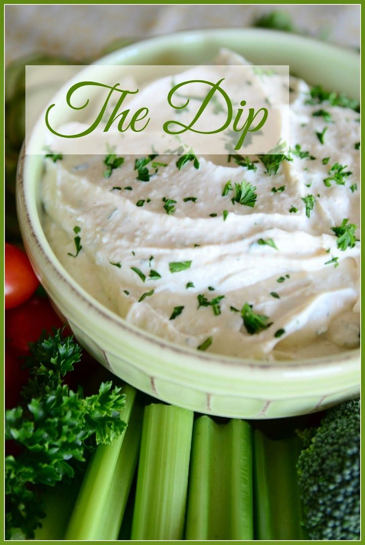 The Dip. Serve with crudites, potato chips, as a sandwich spread or spread on chicken and grilled