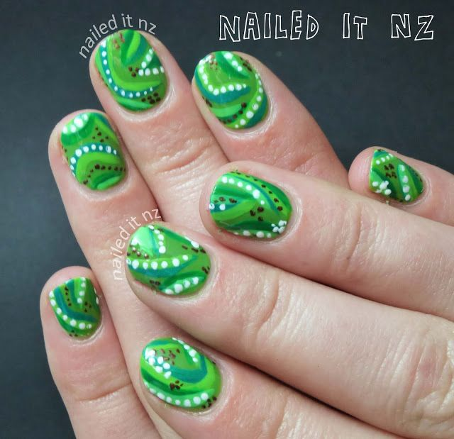 Nailed It NZ: Jungle tribal print nail art http://nailedit1.blogspot.co.nz/2013/02/jungle-tribal-print-nail-art.html