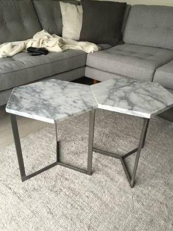 West Elm Marble Coffee Table