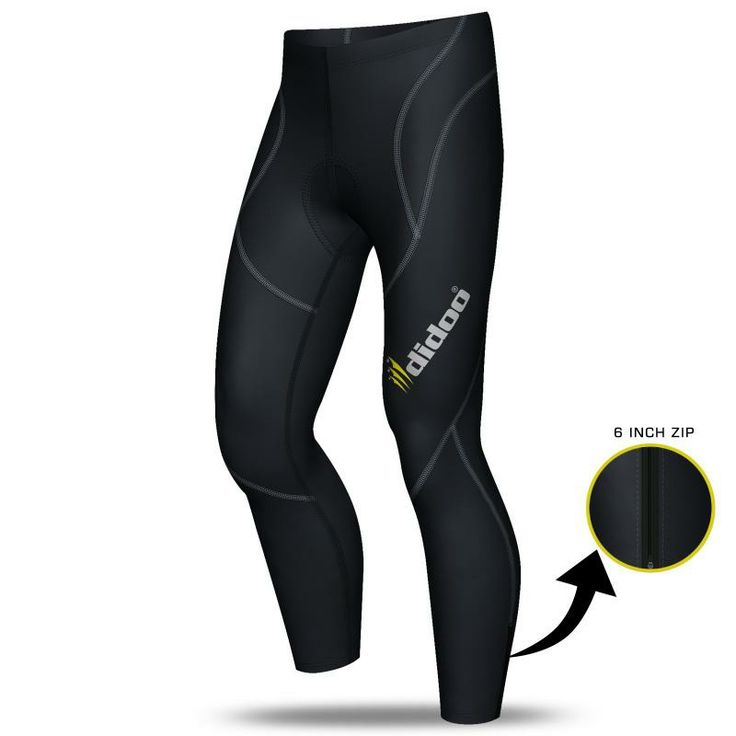 Didoo's Mens Thermal Cold Wear Cycling Pants feature a lightweight, with a ultra warm Thermal Cold wear Fabric  Ideal for cold weather Elasticity and Absorbent COOLMAX 3D-Sponge cushion provides great protection and comfort for long rides Flat lock seams for extra comfort Elasticated waistband Super Roubaix material 80% Polyamide 20% Elastane Zipper Bottom