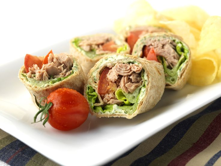 Make Life Easy with this Tuna, Plum Tomato and Basil Pesto Tortilla Rolls recipe! LIKE us at https://www.facebook.com/goldseal #PinToWin #NoDrainer #MakeLifeEasy