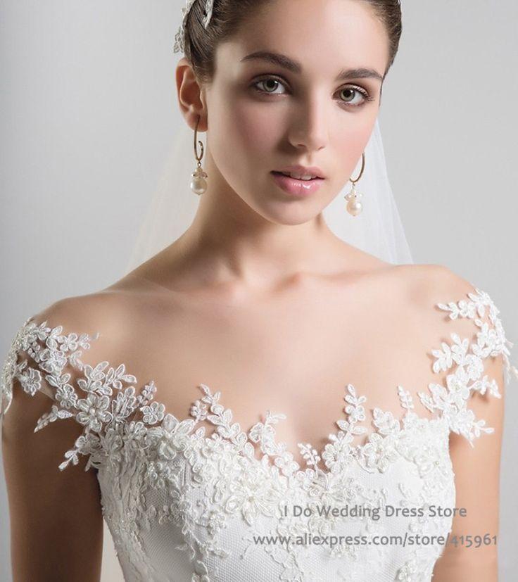 Aliexpress.com : Buy Vintage Design Lace Bridal Dresses Scoop A ...