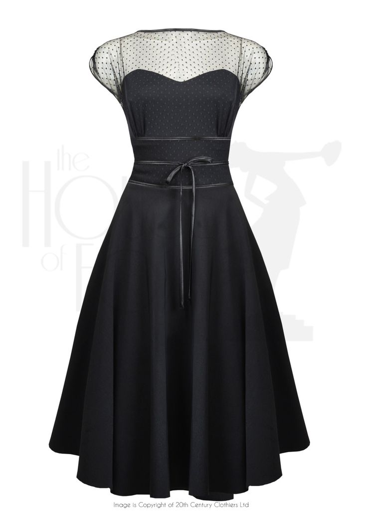 50s Gina Cocktail Dress - Black