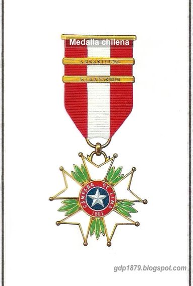La Guerra del Pacífico 1879 - 1884 ( Perú, Bolivia y Chile): Medalla campaña de Lima
