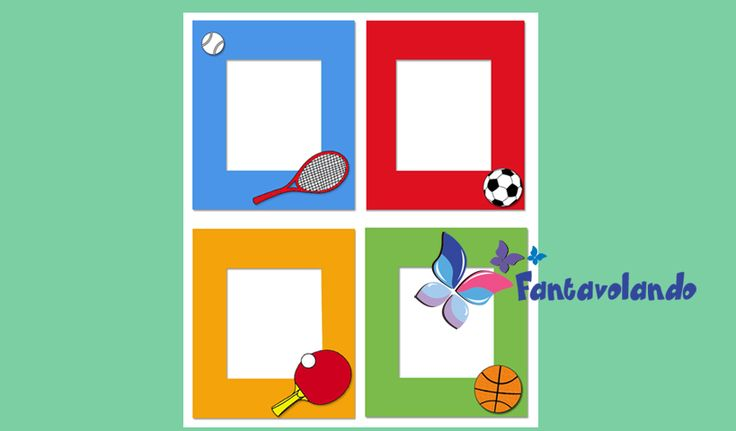 Realizziamo un portafotografia da regalare ad un papà sportivo. Materiale: cartoncino colorato, pennarelli, colla, forbici, appendiquadri. Ritagliamo un rettangolo di cartoncino colorato che misura 20×15 cm. All'interno del rettangolo ne ritagliamo un altro di 14×9 cm dove metteremo la fotografia. Disegniamo e ritagliamo nel cartoncino colorato un'immaginedel modello allegato relativa ad uno sport: pallone, racchetta da tennis, ecc. Disegniamo i particolari con il pennarello. Incolliamo…
