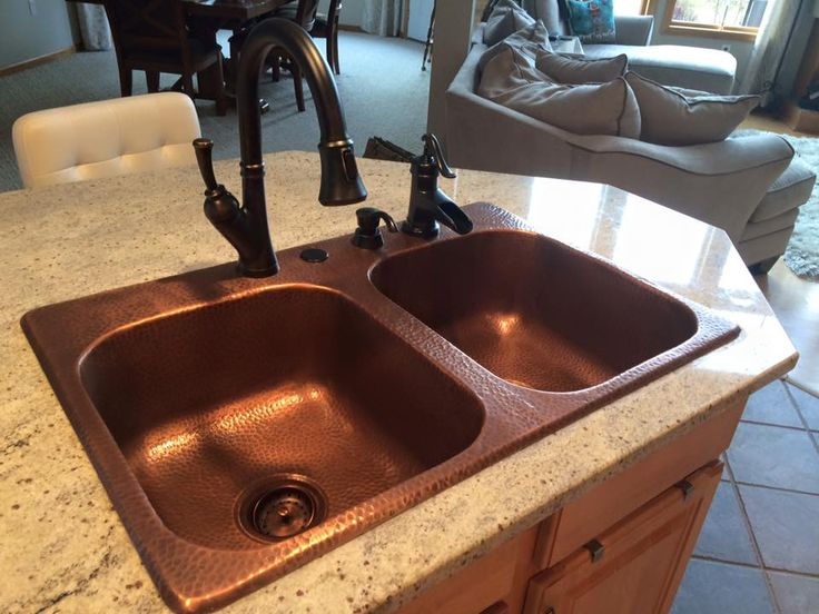 Meet the Raphael double bowl drop-in copper sink. Hassle-free installation and lifetime warranty.