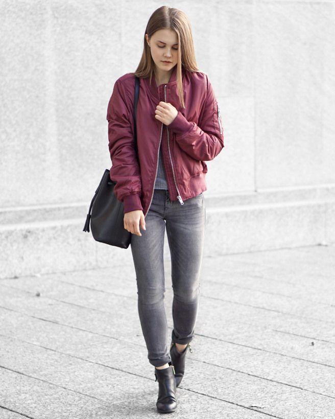 beautiful burgundy jacket outfit 12