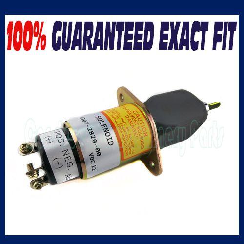 Stop Solenoid 307-2820 12v for Onan Cummins Generator 0307-2820-00