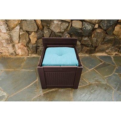 Rubbermaid Outdoor Storage Patio Chic Storage Cube 56 gal. - Brown