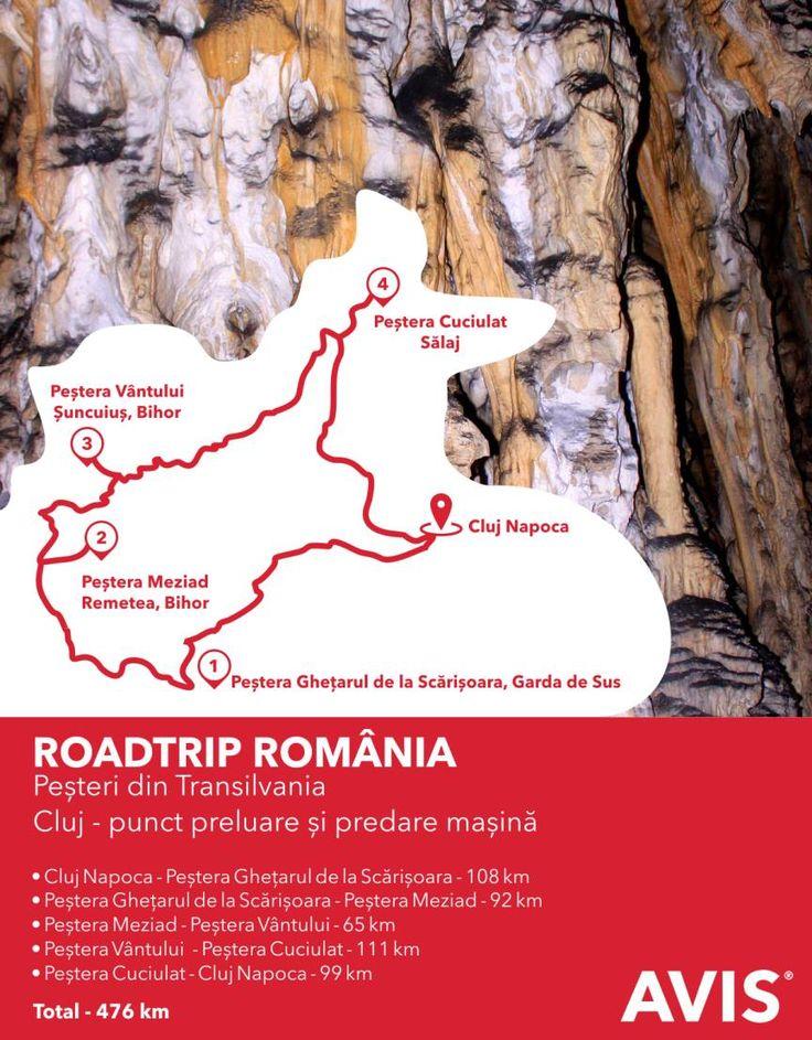 Închiriază o mașină Avis și pleacă într-un roadtrip al celor mai frumoase peșteri din Transilvania!  www.avis.ro