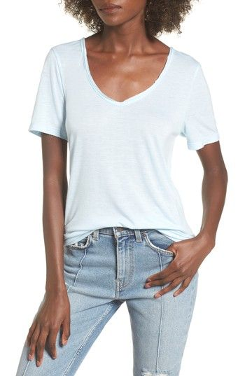 ed0015267008 Free shipping and returns on BP. Raw Edge V-Neck Tee at Nordstrom.com. A raw -edged neckline contributes to the relaxed attitude of a drapey tee with a  ...